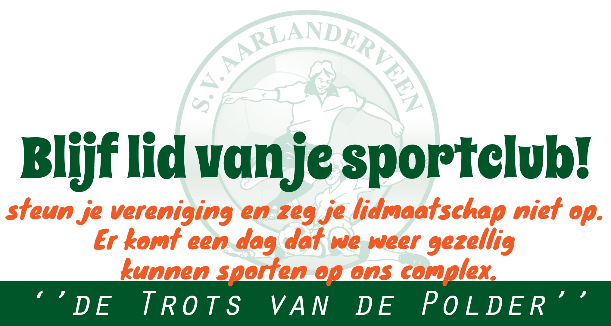 Blijf lid van je sportclub!