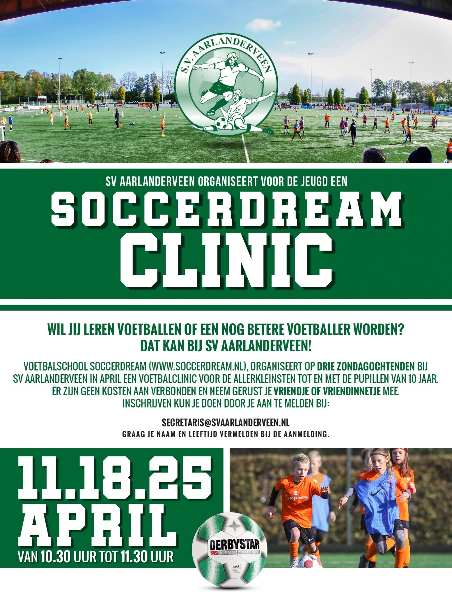 SoccerDream Clinic 18 April 2021